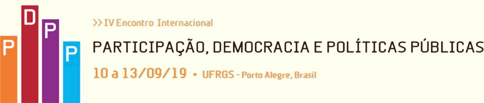 IV Encontro Internacional Participação, Democracia e Políticas Públicas